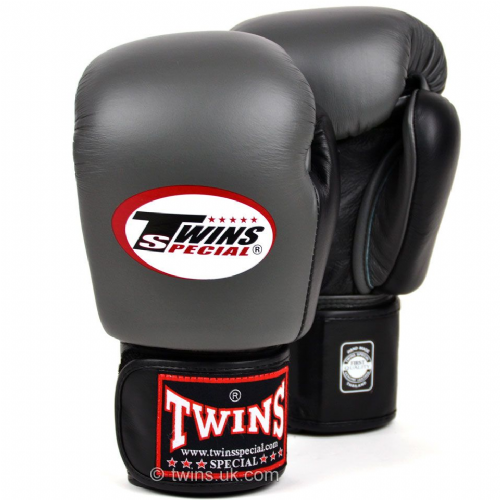 Twins 2-tone Boxing Gloves - Grey/Black